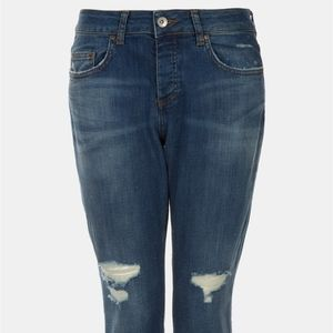 TOPSHOP LACEY Distressed Jean